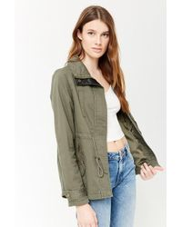 Forever 21 - Funnel Neck Utility Jacket - Lyst