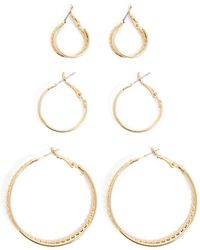 Forever 21 - Double Hoop Earring Set - Lyst