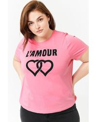 ddcbd9e3f22 Forever 21 Plus Size Thrill Graphic Tee in Pink - Lyst