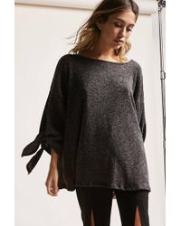 Forever 21 - Oversized Round-neck Sweater - Lyst