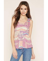 Forever 21 - Contemporary Abstract Top - Lyst