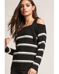 Forever 21 - Open-shoulder Self-tie Stripe Top - Lyst