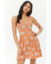 Forever 21 - Women's Floral Print Swing Dress - Lyst