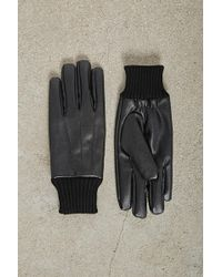 Forever 21 - Men Faux Leather Gloves - Lyst