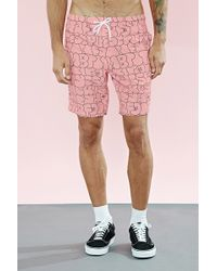 Forever 21 - Bubble Letters Swim Trunks - Lyst