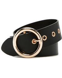 Forever 21 - Faux Leather Circle Buckle Belt - Lyst