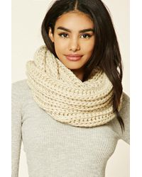 Forever 21 - Ribbed Knit Infinity Scarf - Lyst