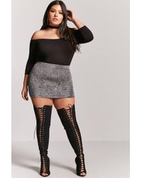 Forever 21 - Faux Suede Over-the-knee Boots - Wide Fit - Lyst