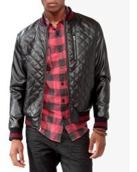 Forever 21 - Quilted Faux Leather Jacket - Lyst