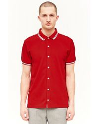 Forever 21 - Button-front Polo Shirt - Lyst