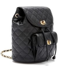 FOREVER21 - Faux Leather Quilted Mini Backpack - Lyst