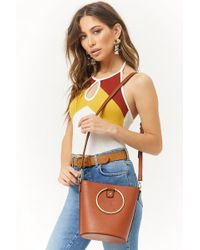 Forever 21 - Faux Leather Bag - Lyst