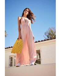 Forever 21 - Halter Maxi Dress , Coral - Lyst