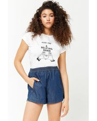 Forever 21 - Chambray Zippered Shorts - Lyst