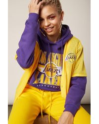 Forever 21 - Nba Los Angeles Lakers Graphic Jersey , Yellow/purple - Lyst
