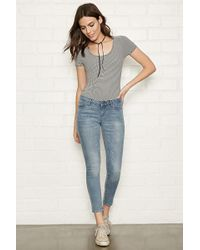 Forever 21 - Low-rise Skinny Ankle Jeans - Lyst