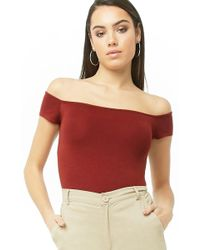 10067c17427 Forever 21 - Women's Off-the-shoulder Sweater Top - Lyst
