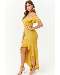 Forever 21 - Off-the-shoulder High-low Dress - Lyst