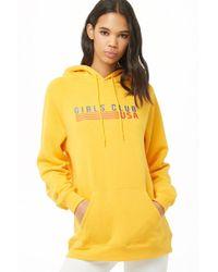 Forever 21 - Girls Club Usa Fleece Hoodie - Lyst