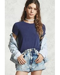 Forever 21 | Faded Wash High-low Tee | Lyst