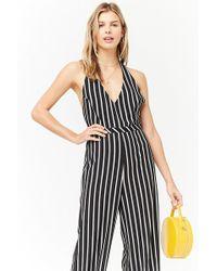 Forever 21 - Women's Stripe Halter Jumpsuit - Lyst