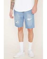 Forever 21 - 's Distressed Denim Shorts - Lyst