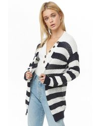 466d27b5c9 Lyst - Forever 21 Chunky Knit Cardigan in Natural