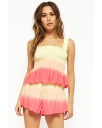 Forever 21 - Smocked Ombre Shorts - Lyst