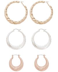 Forever 21 - Twisted Hoop Earrings Set - Lyst