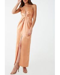 2ce7946f18 Lyst - Forever 21 Plunging Mesh Maxi Dress in Black