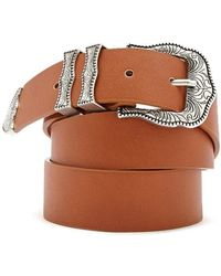 Forever 21 - Faux Leather Etched Hip Belt - Lyst
