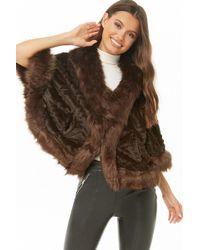b15b6d765 Lyst - Forever 21 Vero Moda Shaggy Faux Fur Coat
