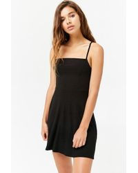 Forever 21 - Ribbed Flare Dress - Lyst
