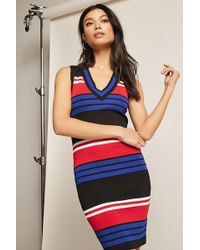 Forever 21 - Ribbed Colorblock Stripe Dress - Lyst