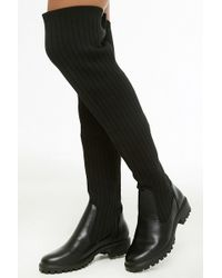 Forever 21 - Over-the-knee Ribbed Knit Boots - Lyst
