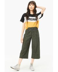 Forever 21 - Grid Ankle Pants - Lyst