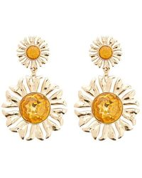 Forever 21 - Floral Faux Gem Tiered Drop Earrings - Lyst