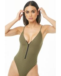 Forever 21 - Ribbed One-piece Swimsuit - Lyst