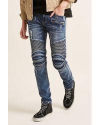Forever 21 - Cain & Abel Denim Moto-inspired Jeans - Lyst
