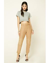 Forever 21 - Distressed Drawstring Joggers - Lyst