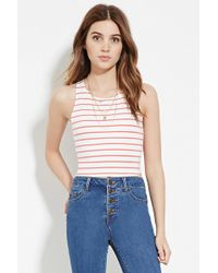 Forever 21 - Stripe Crop Top - Lyst