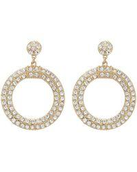 Forever 21 - Women's Rhinestone Cutout Drop Earrings - Lyst