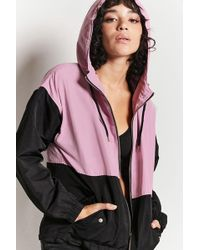 Forever 21 - Colorblock Hooded Jacket - Lyst