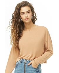 Forever 21 - Boxy Long Sleeve Top , Tan - Lyst