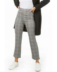 Forever 21 - Glen Plaid High-rise Trousers - Lyst