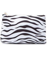 Forever 21 - Zebra Print Makeup Bag - Lyst