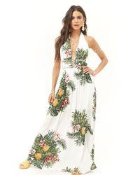 Forever 21 - Tropical Halter Maxi Dress - Lyst