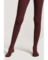Forever 21 - Ribbed Opaque Tights - Lyst