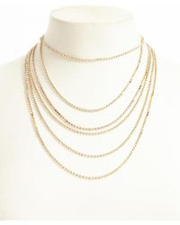 Forever 21 - Rhinestone Box Chain Necklace - Lyst