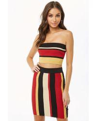 74531992df Lyst - Forever 21 Multi-striped Tube Top   Skirt Set